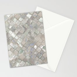 Quatrefoil Moroccan Pattern Mother of Pearl Stationery Cards