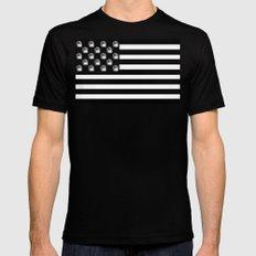 US Minifigure Flag - Horizontal Mens Fitted Tee MEDIUM Black