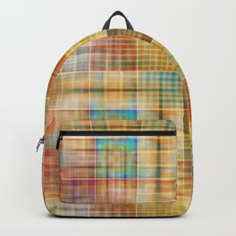 Multicolored patchwork mosaic pattern Backpack
