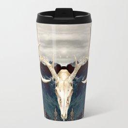 Rocky Mountain Deer Skull Travel Mug