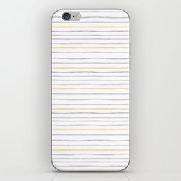 yellow and grey stripes iPhone Skin