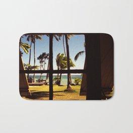 Tropical Fiji Beach Scene Bath Mat