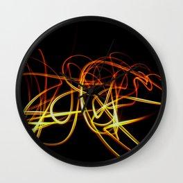 Abstract Orange Light Effect Wall Clock