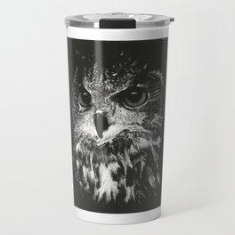 Owl Scratchboard Travel Mug