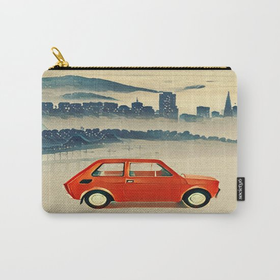 Red Polski Fiat  Carry-All Pouch