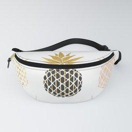 fun pineapple design gold Fanny Pack