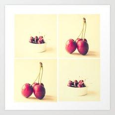 Cherry Kitchen Art Quad Art Print