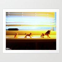 hakuna Art Prints featuring Hakuna Matata by Jared Mentz