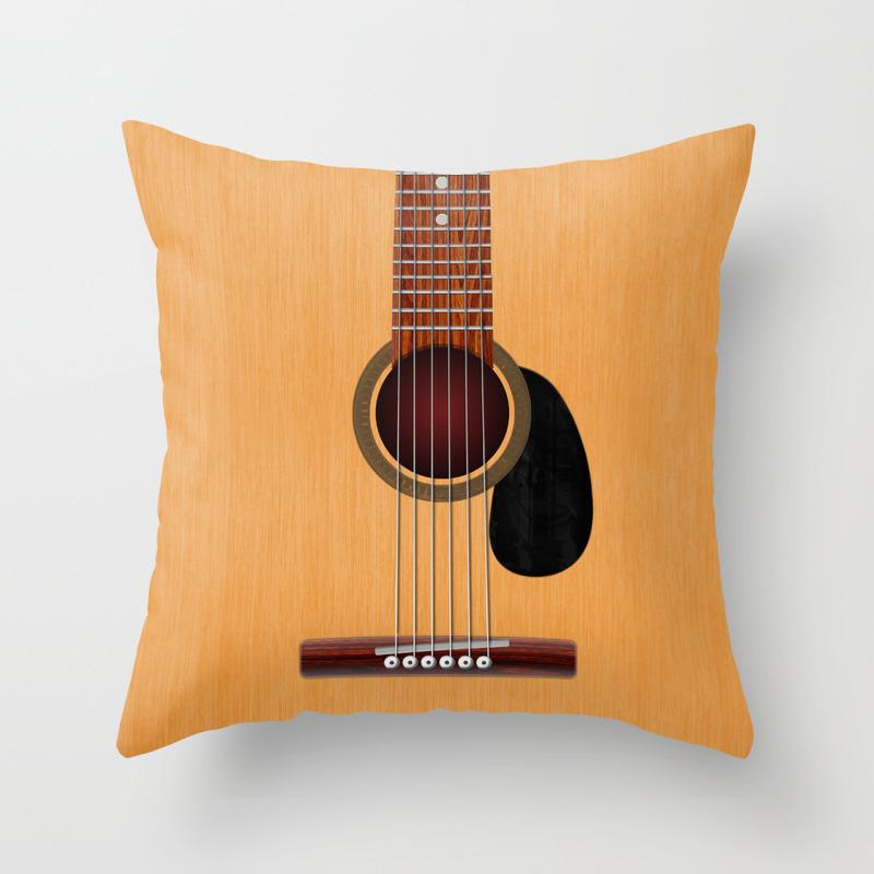 Acoustic Guitar Throw Pillow By Chrismacdonaldstudios Society6
