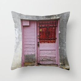 The Pink Door Throw Pillow