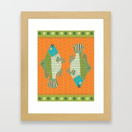 Tropical Paleo – Tilapia in Orange Framed Art Print