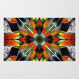 Kaleidoscope. Colorful fractal Rug