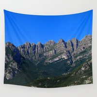 italian Wall Tapestries featuring Italian Mountains by Kallian
