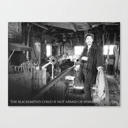 The Blacksmith's Child Canvas Print