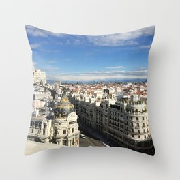 Madrid, Spain - Rooftop Throw Pillow