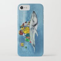 the whale iPhone & iPod Cases featuring whale by Кaterina Кalinich