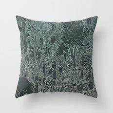 enviro-mental Throw Pillow