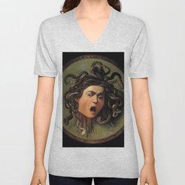Medusa Michelangelo Merisi da Caravaggio Unisex V-Neck