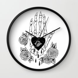 crying my heart out Wall Clock