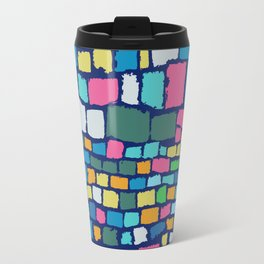 Preppy Painted Patchwork Travel Mug