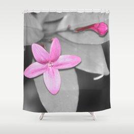 color pops: Pink flower & bud Shower Curtain