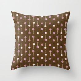 Cake Pop Parade - Chocolate Throw Pillow