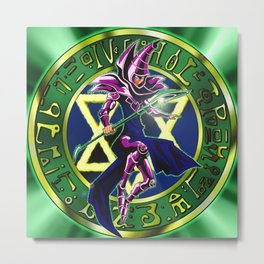 Dark Magician Power Up! Metal Print