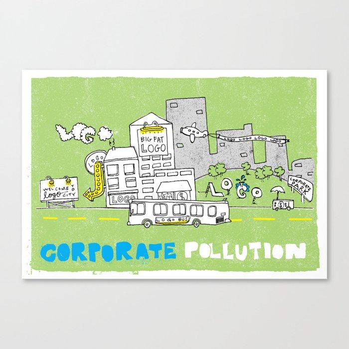 Corporate Pollution Canvas Print