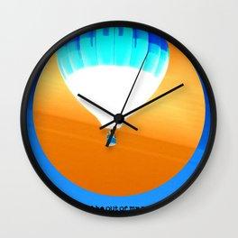 Cold Hot Air Balloon Wall Clock