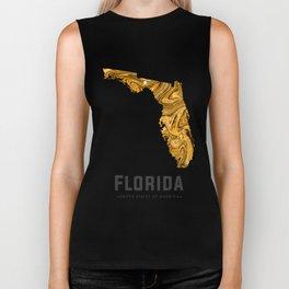 Florida - State Map Art - Abstract Map - Brown Biker Tank