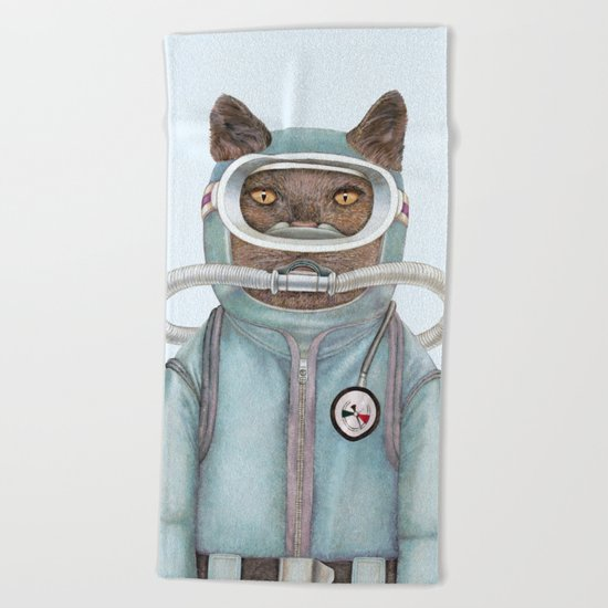 Scuba Cat Beach Towel