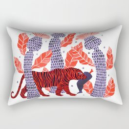 Tiger story in the jungle Rectangular Pillow