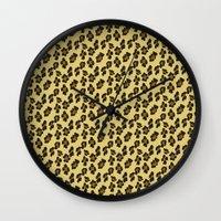 leopard Wall Clocks featuring Leopard by Lena Photo Art