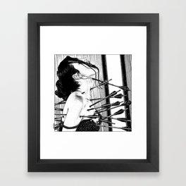 asc 778 - La lione blessée (Love is a killer) Framed Art Print