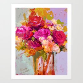 Bloom Fresh, Birthday Roses Art Print