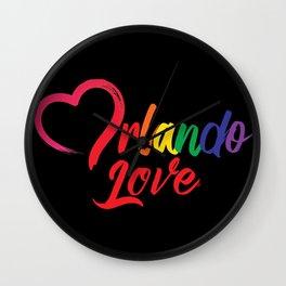 Heart Orlando Love Wall Clock