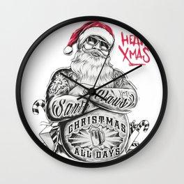 SANTA CLAUS  [TATTOO] Wall Clock