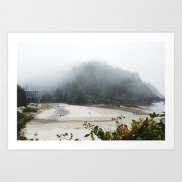 Overlook Beach Art Print