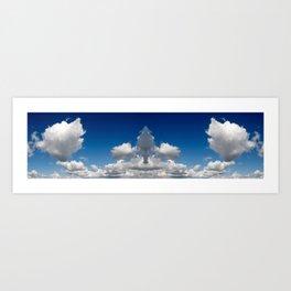 Mirror image sky panorama Art Print