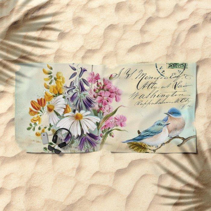Sweet birds #1 Beach Towel