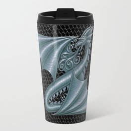 Dragon Letter Z, from Dracoserific a font full of Dragons Travel Mug