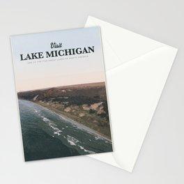 Visit Lake Michigan Stationery Cards