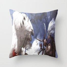 Mad Polar bear Throw Pillow