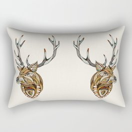 Deer // Animal Poker Rectangular Pillow
