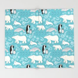 Artic Winter Wonderland Throw Blanket