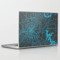 nashville Laptop & iPad Skins featuring Nashville by Map Map Maps
