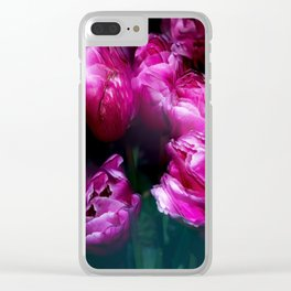 Tulips in Motion Clear iPhone Case