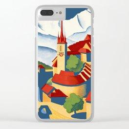 Vintage Bern Switzerland Travel Clear iPhone Case