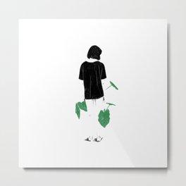 Amongst Green Metal Print