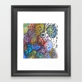 blotchy Framed Art Print